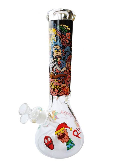 Pure Glass Water Pipe Thickness 9mm Hieght  H32cm