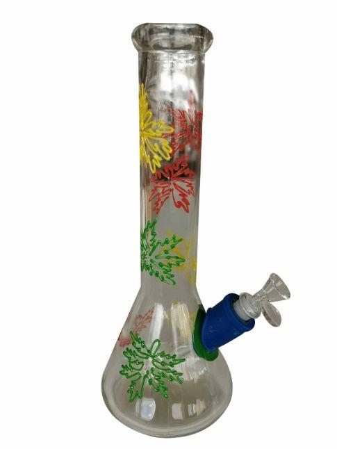 Rusta Leaf Design Glass Water Pipe