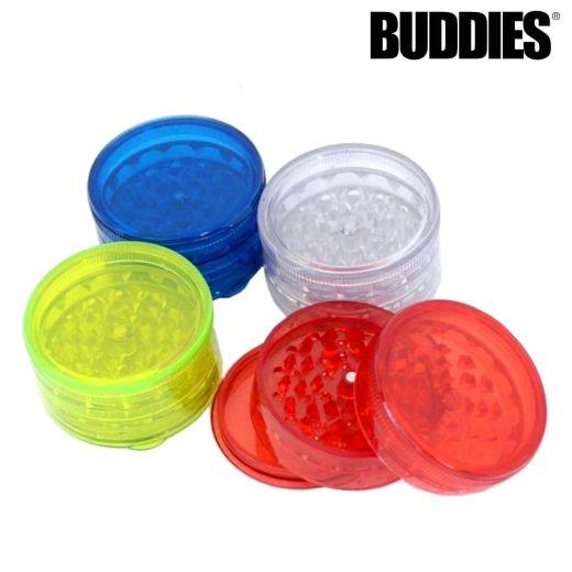 Buddies Plastic Grinder Assorted Colours (4 Levels)