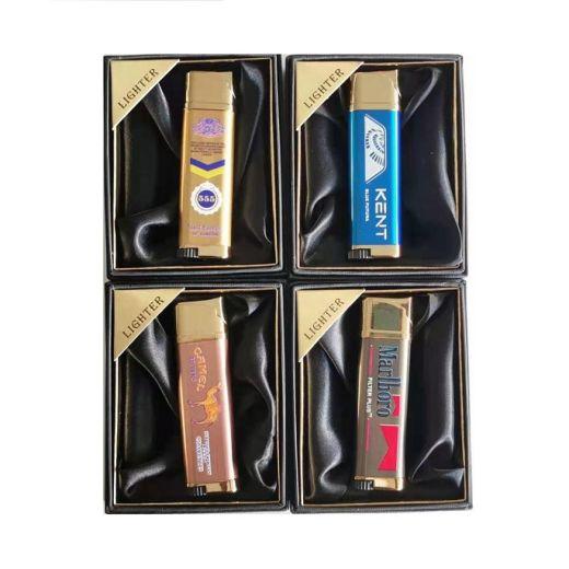 Blue Flame Lighter with Cigarette Brands Print