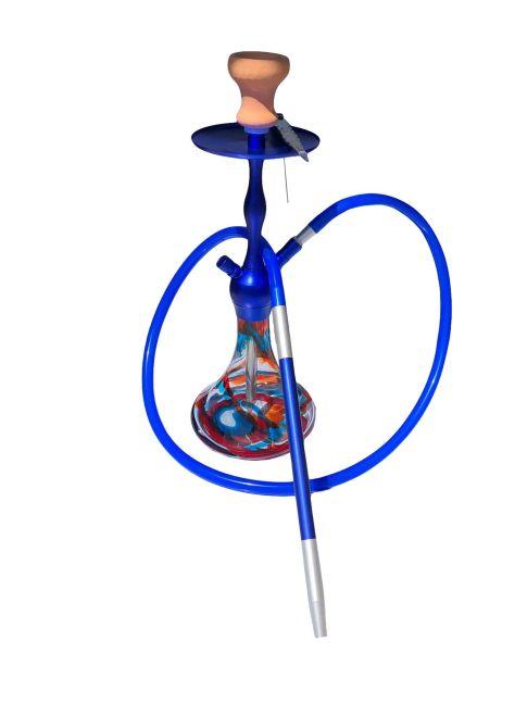 German Design Wavy Blue Hookah Approx. 40CM