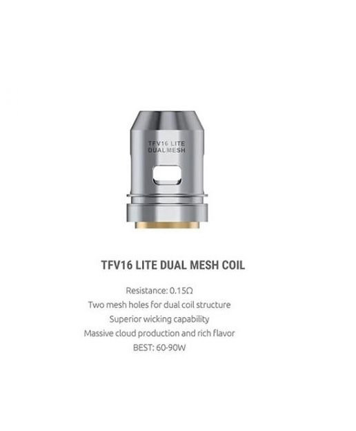 TFV16 Lite Dual Mesh 0.15ohm coil : 3pcs/pack