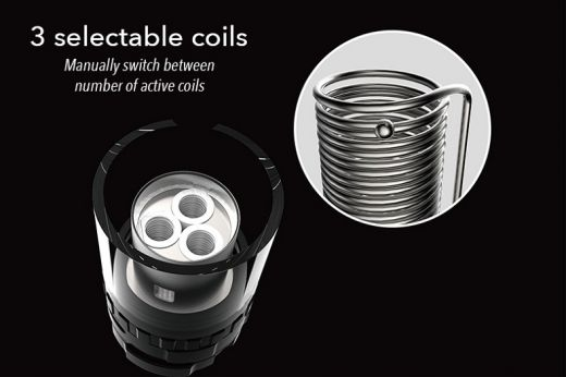Tiger Coil for Five 6 Atomizer: 3*0.6ohm in parallel (2pcs/pack)