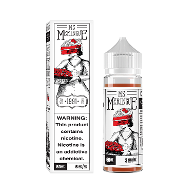 Charlies Miss Meringue 60ml: Succulent strawberries smothered by sweet and billowing buttery meringue.