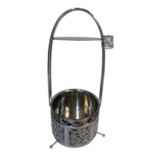 Floral Design Charcoal Basket