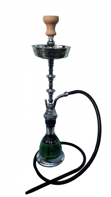 Mazaya Green Large Hookah Pipe Single Hose