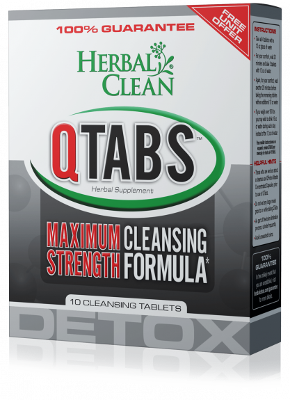 Quick Tab 10 Count Detox: 10 CLEANSING TABLETS