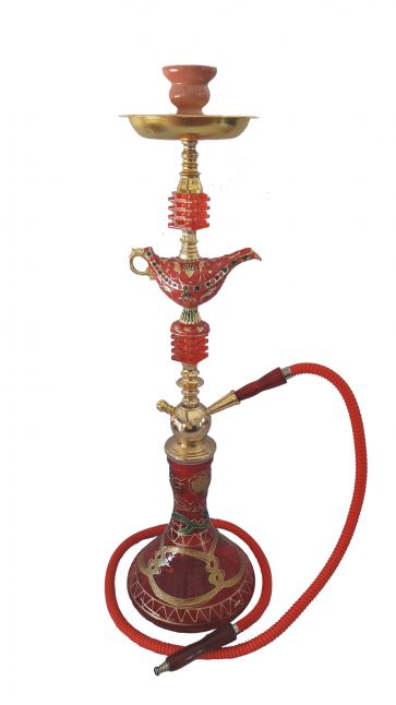 Bird Eye Red Hookah Pipe Large