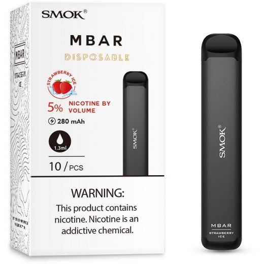 Smok MBAR Disposable Device: Strawberry Ice 50mg