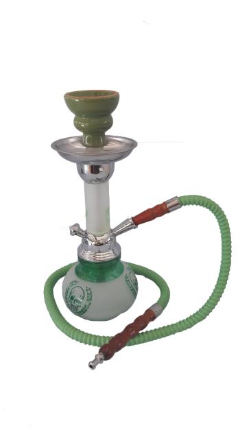 Green LED Hookah Pipe Small - 1 Hose