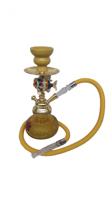 Golden Fish Hookah Pipe Small Single Hose